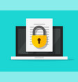 secure confidential document online access with vector image vector image