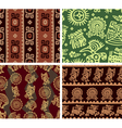 set mexican seamless tiles vector image vector image