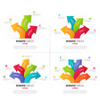 set of 3-6 options infographics with branching vector image vector image