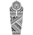sleeve tattoo polynesian style vector image vector image