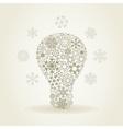 Snowflake a bulb vector image vector image
