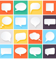 speech bubbles in flat design vector image vector image