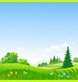spring day landscape vector image vector image