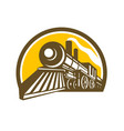 steam locomotive train icon vector image vector image