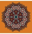 Stylized Oriental Mandala Design for Flayer vector image vector image