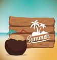 Summertime design vector image