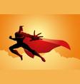 superhero pose in action vector image