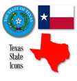 texas state icons vector image vector image