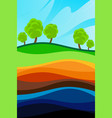 the structure of the earth vector image vector image
