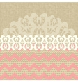 two seamless pattern and lace trim vector image vector image