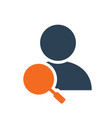 user profile with magnifying glass line icon vector image vector image