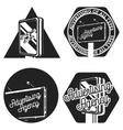 Vintage advertising agency emblems vector image vector image