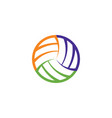 volleyball ball logo icon sign element vector image vector image