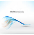 wave abstract blue smoke on white background vector image vector image