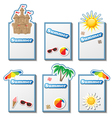 Summer card set with stickers vector image