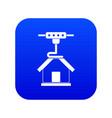 3d printer printing house icon digital blue vector image