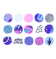 abstract cut out circle shapes textured hand vector image