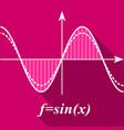 algebra graph icon flat style vector image