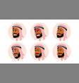 arab avatar icon man saudi emirates vector image vector image