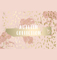 autumn collection gold blush background trendy vector image vector image