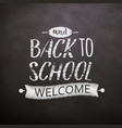 back to school chalkboard vector image vector image