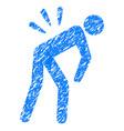 backache grunge icon vector image vector image