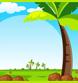 background scene with green lawn vector image vector image