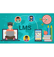 banner - concept of lms vector image vector image