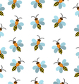Bees seamless texture Bees background wallpaper vector image vector image