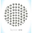 Big set of silver splashes vector image
