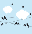 birds in sky vector image vector image