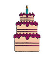 birthday pastry icon image vector image vector image
