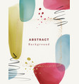 blots or blotches watercolor banners poster design vector image
