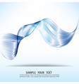 blue wave abstract design elementtransparent vector image