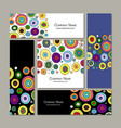 business cards set abstract circles design vector image