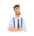 businessman showing thumb up funny office worker vector image