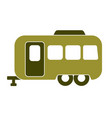 camping trailer icon vector image