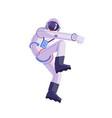 cartoon astronaut dancing party cosmonaut modern vector image vector image