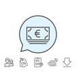 cash money line icon banking currency vector image vector image