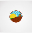 circle with shine sun agriculture logo concept vector image