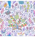 colorful exotic fantastic plants mushrooms vector image vector image