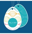 colorful horizontal ogee Easter egg shaped vector image vector image