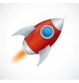 Comic cartoon rocket space ship vector image vector image