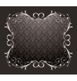 damask floral frame vector image vector image