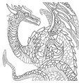 earth dragon graphic black and white sketch vector image vector image