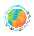 earth planet globe icon vector image vector image