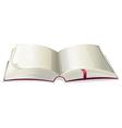 Empty open book vector image