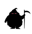 executor silhouette with predatory screwed up red vector image vector image