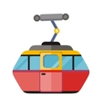Funicular Railway Cable Car Isolated vector image
