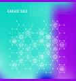 garage sale concept in honeycombs vector image vector image